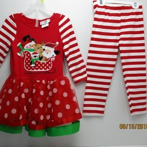 Emily Rose Girls Christmas Toddler 2 Pcs dress 3T